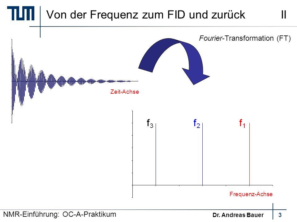 NMR-Einführung: OC-A-Praktikum Dr.
