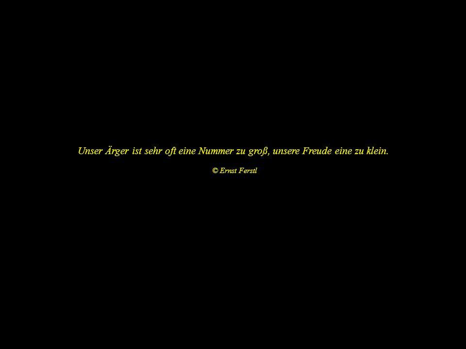 Zeit zu haben ist ausschließlich eine Frage des Sich-Zeit-Nehmens. © Ernst Ferstl