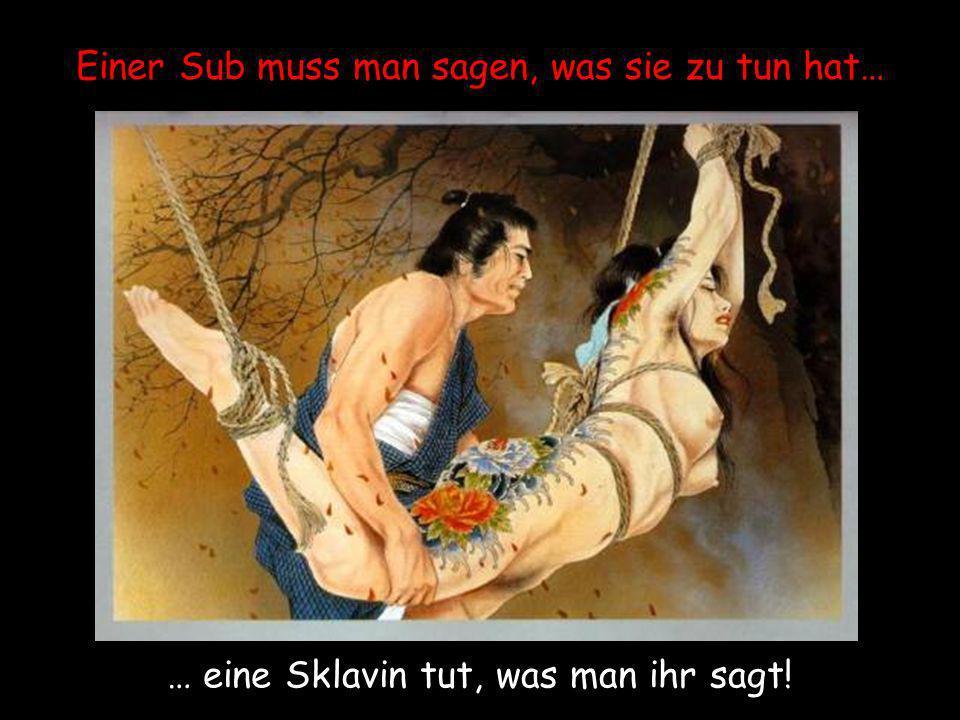 Einer Sub muss man sagen, was sie zu tun hat… … eine Sklavin tut, was man ihr sagt!