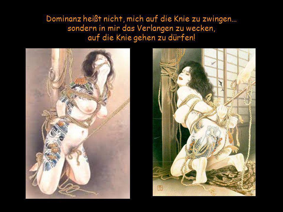 Dominanz heißt nicht, mich auf die Knie zu zwingen… sondern in mir das Verlangen zu wecken, auf die Knie gehen zu dürfen!