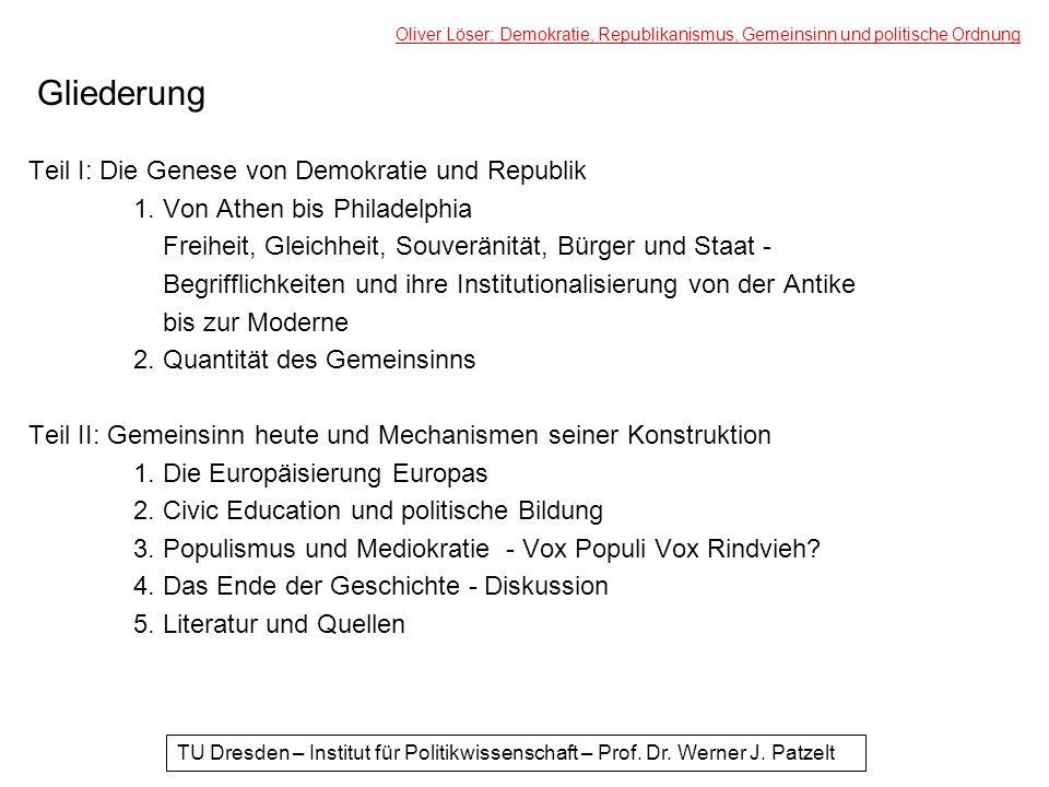 (II) 5.Literatur und Quellen Bermbach, Udo (1991): Demokratietheorie und Politische Institutionen.