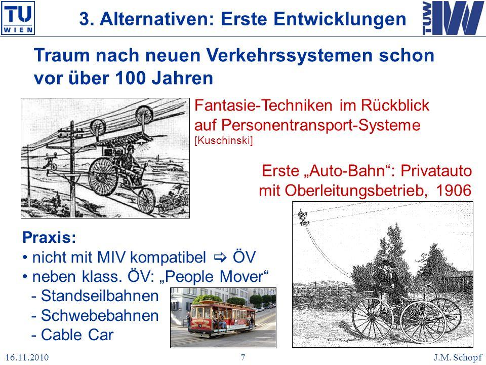16.11.2010J.M. Schopf7 Traum nach neuen Verkehrssystemen schon vor über 100 Jahren Fantasie-Techniken im Rückblick auf Personentransport-Systeme [Kusc