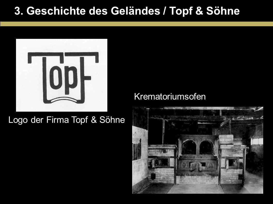 3. Geschichte des Geländes / Topf & Söhne Logo der Firma Topf & Söhne Krematoriumsofen