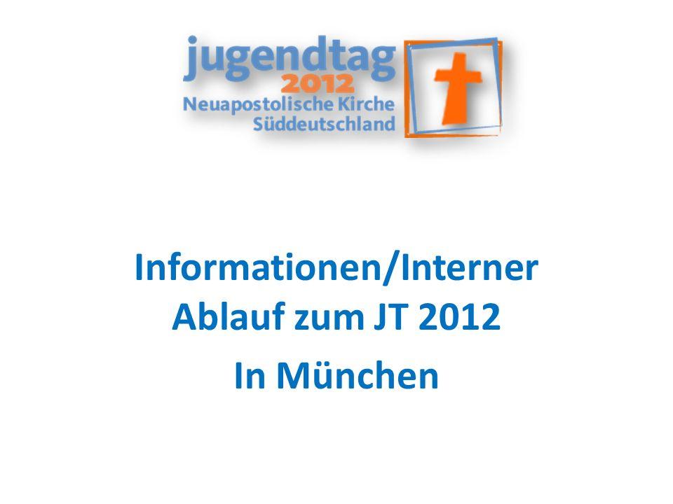 Informationen/Interner Ablauf zum JT 2012 In München