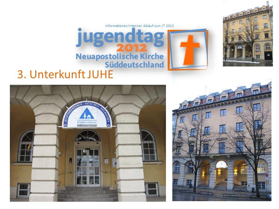 Informationen/Interner Ablauf zum JT 2012 3. Unterkunft JUHE
