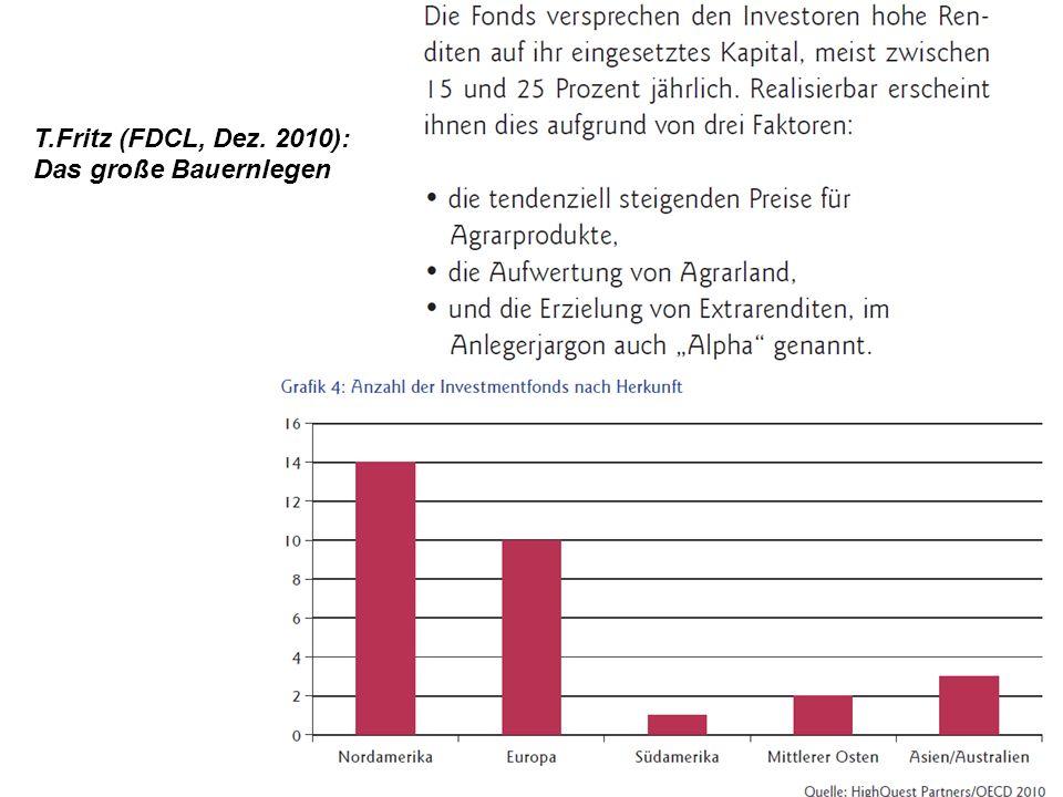 T.Fritz (FDCL, Dez. 2010): Das große Bauernlegen