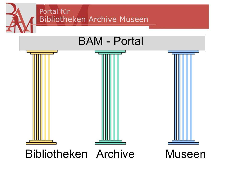 Bibliotheken ArchiveMuseen BAM - Portal