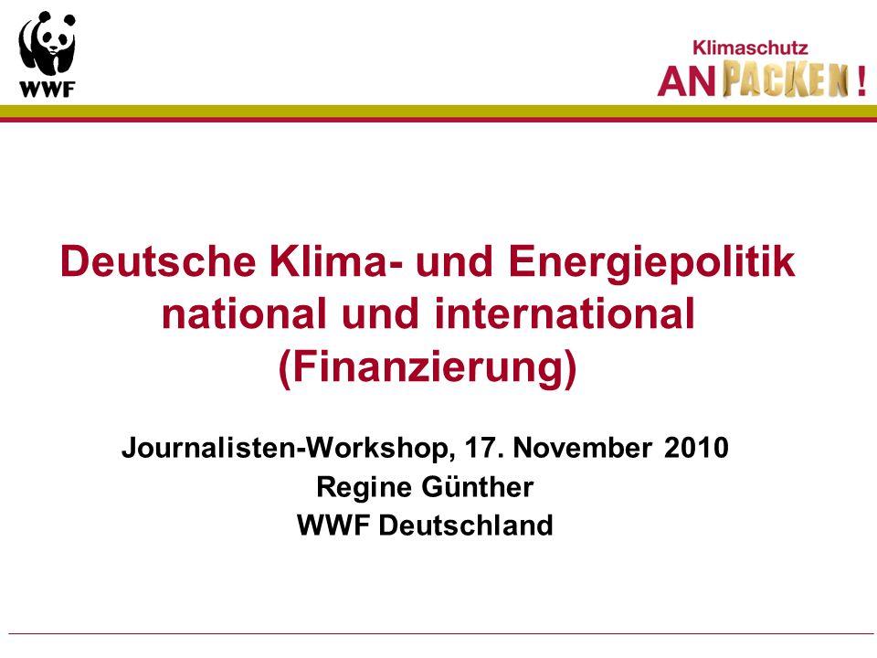 Zentrale Elemente deutscher Klimapolitik 1.Emissionsminderungen Nationale Energiepolitik Konsequenzen auf EU Ebene 2.