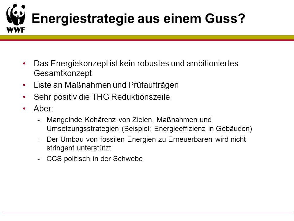Energiestrategie aus einem Guss? Das Energiekonzept ist kein robustes und ambitioniertes Gesamtkonzept Liste an Maßnahmen und Prüfaufträgen Sehr posit