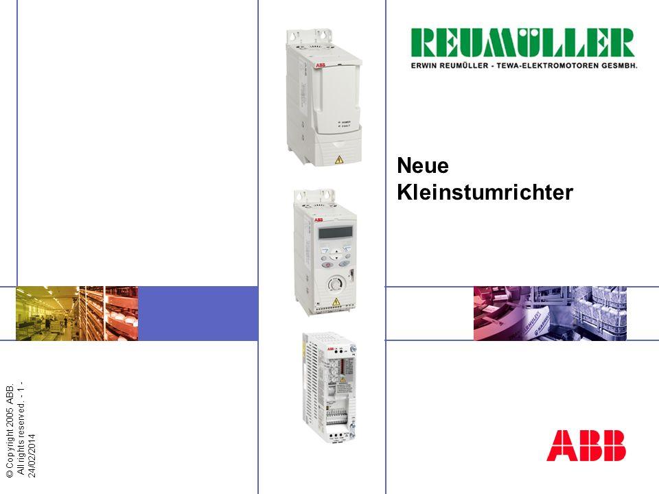 © Copyright 2005 ABB - 2 - Neue Kleinstumrichterreihen Nahrungs- und Genussmittel Materialbearbeitung Textil Druck Gummi und Kunstsbisff Holz