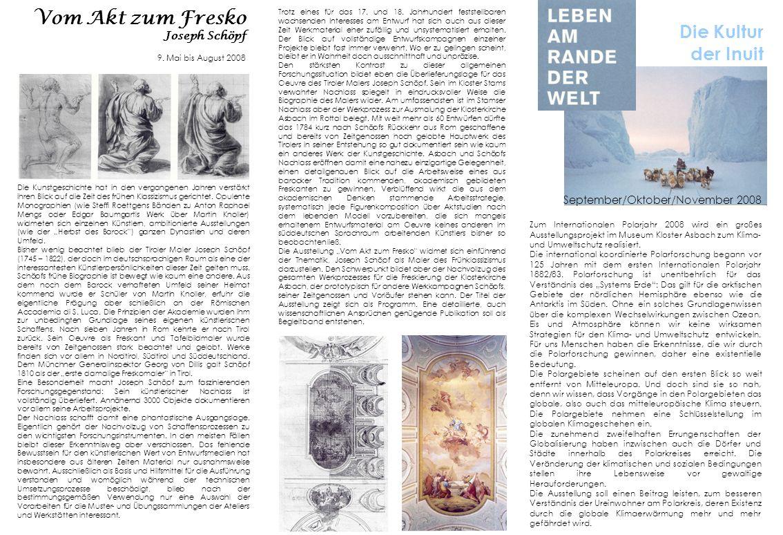Vom Akt zum Fresko Joseph Schöpf 9. Mai bis August 2008 Die Kunstgeschichte hat in den vergangenen Jahren verstärkt ihren Blick auf die Zeit des frühe