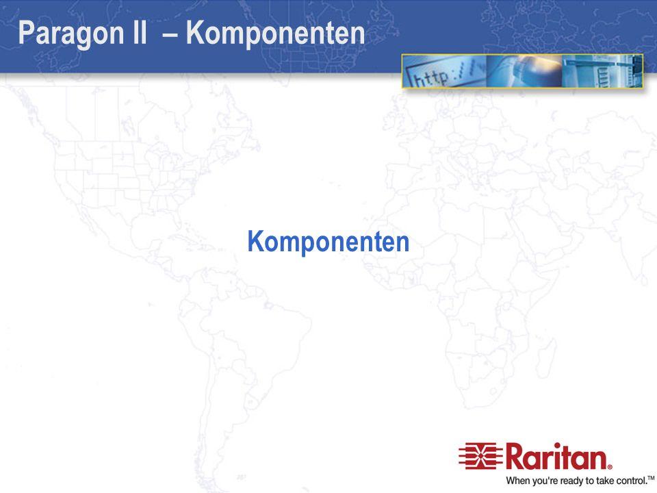 Paragon II – Komponenten Komponenten