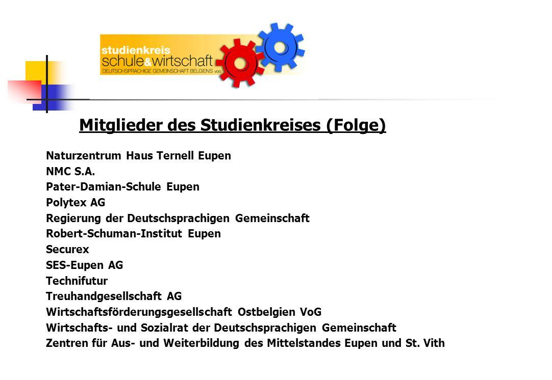 2.Ziele Schüler an die Wirtschafts-, Arbeits- und Berufswelt heranführen.