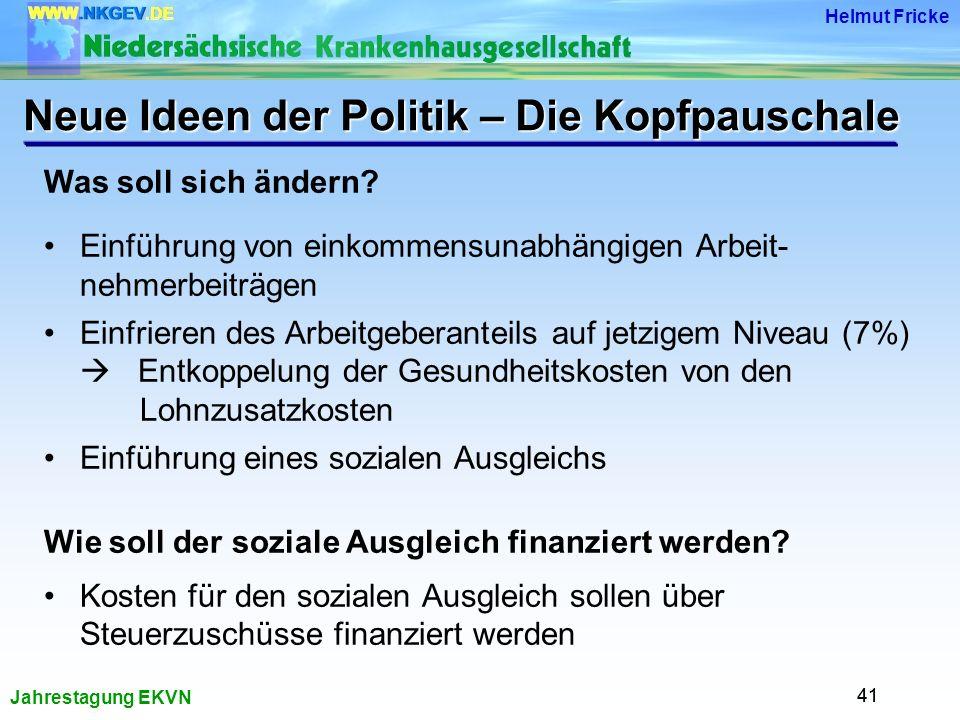 Jahrestagung EKVN Helmut Fricke 41 Was soll sich ändern.