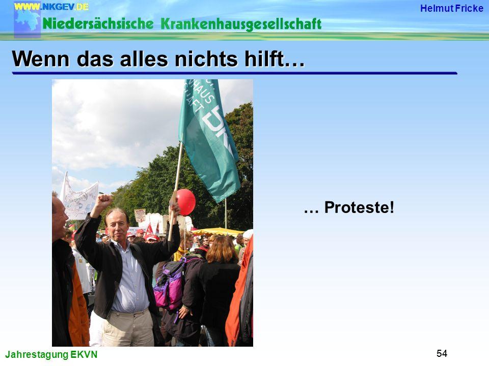 Jahrestagung EKVN Helmut Fricke 54 Wenn das alles nichts hilft… … Proteste!
