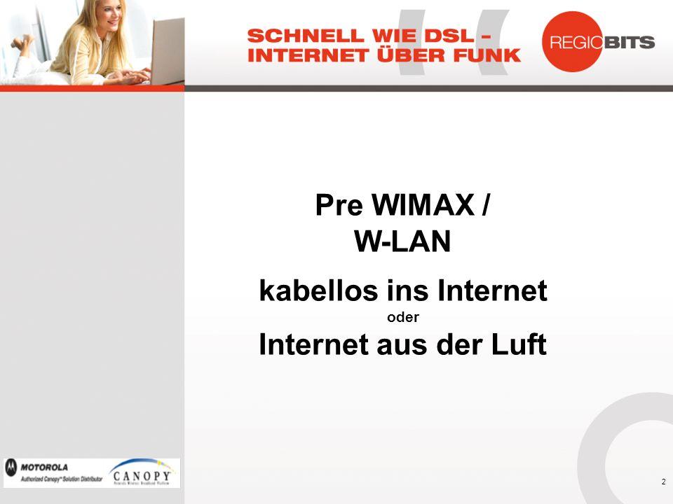 Pre WIMAX / W-LAN kabellos ins Internet oder Internet aus der Luft 2