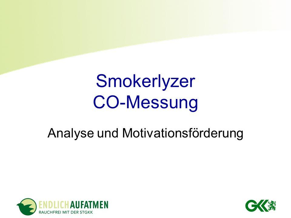 Smokerlyzer CO-Messung Analyse und Motivationsförderung