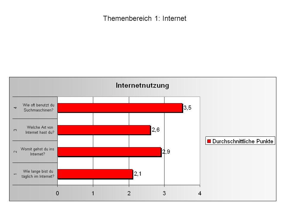 Themenbereich 1: Internet