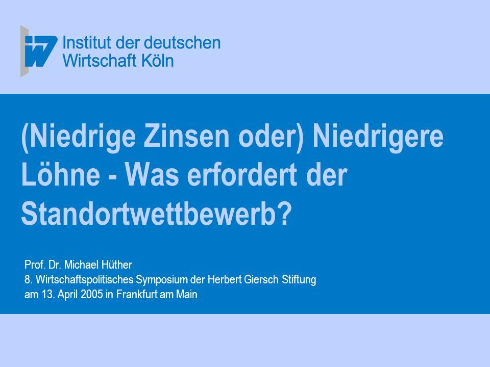 Prof.Dr. Michael Hüther 8. Wirtschaftspolitisches Symposium der Herbert Giersch Stiftung am 13.