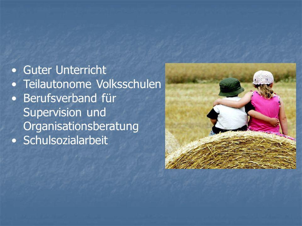Guter Unterricht Teilautonome Volksschulen Berufsverband für Supervision und Organisationsberatung Schulsozialarbeit