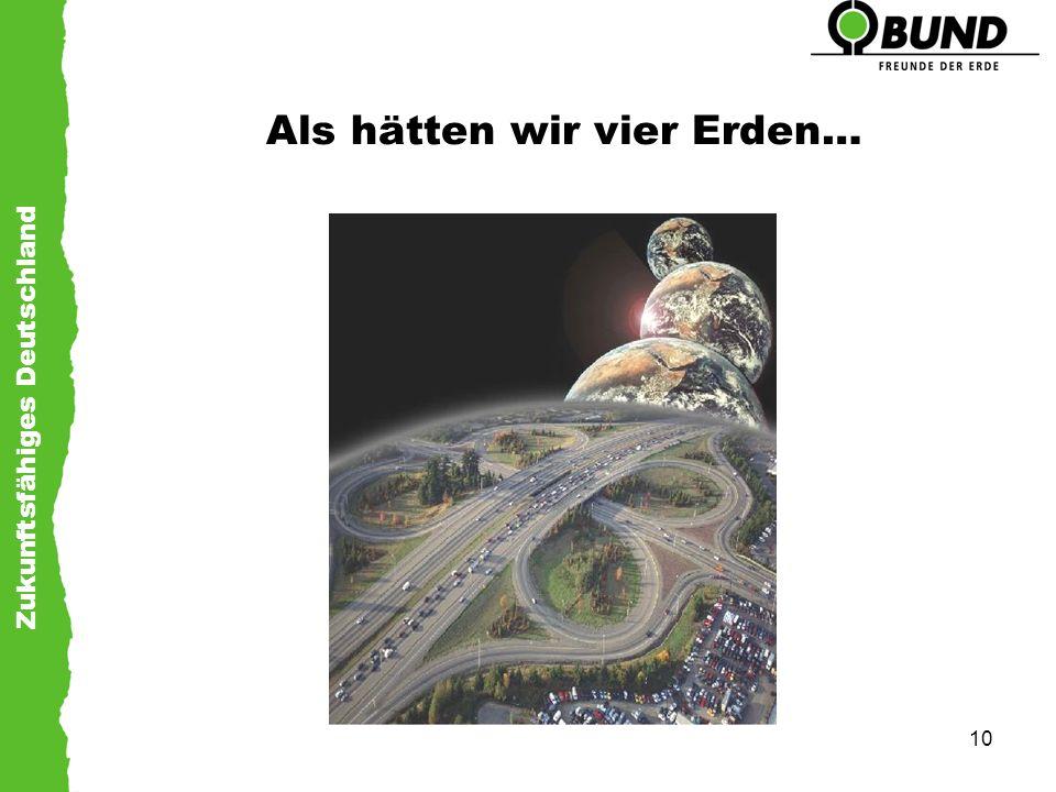 Zukunftsfähiges Deutschland 10 Als hätten wir vier Erden…