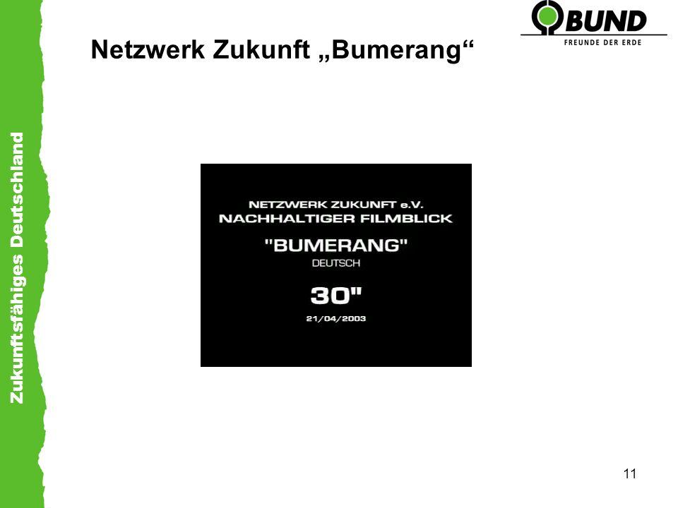 Zukunftsfähiges Deutschland 11 Netzwerk Zukunft Bumerang
