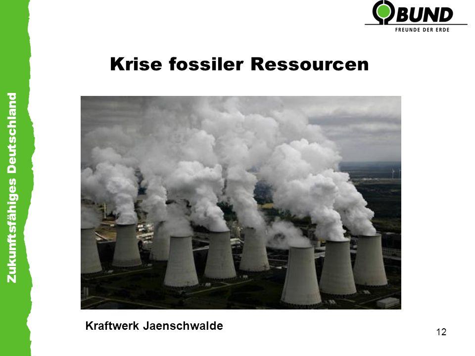 Zukunftsfähiges Deutschland 12 Krise fossiler Ressourcen Kraftwerk Jaenschwalde