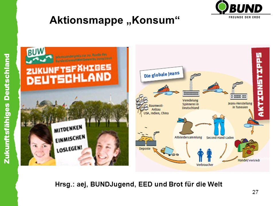Zukunftsfähiges Deutschland 27 Aktionsmappe Konsum Hrsg.: aej, BUNDJugend, EED und Brot für die Welt