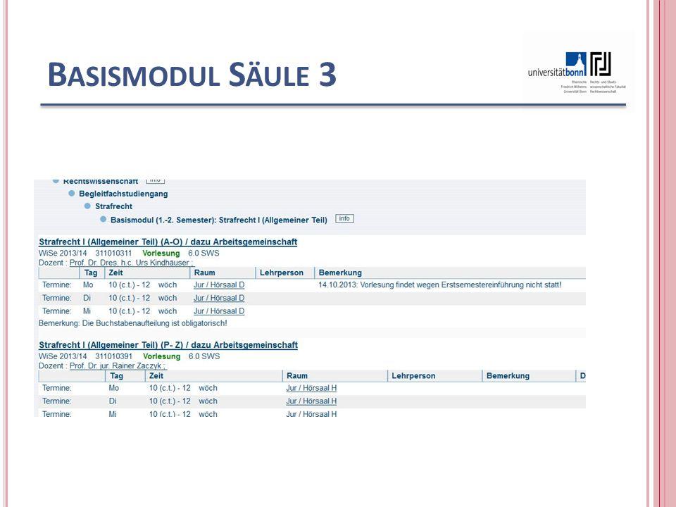B ASISMODUL S ÄULE 3