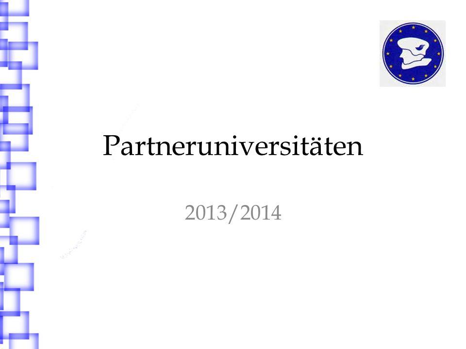 Partneruniversitäten 2013/2014