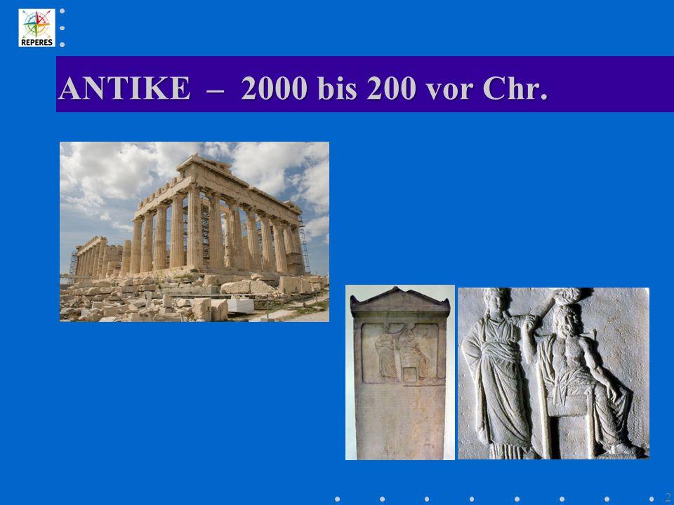 FRÜHE NEUZEIT – 1500 bis 1900 13