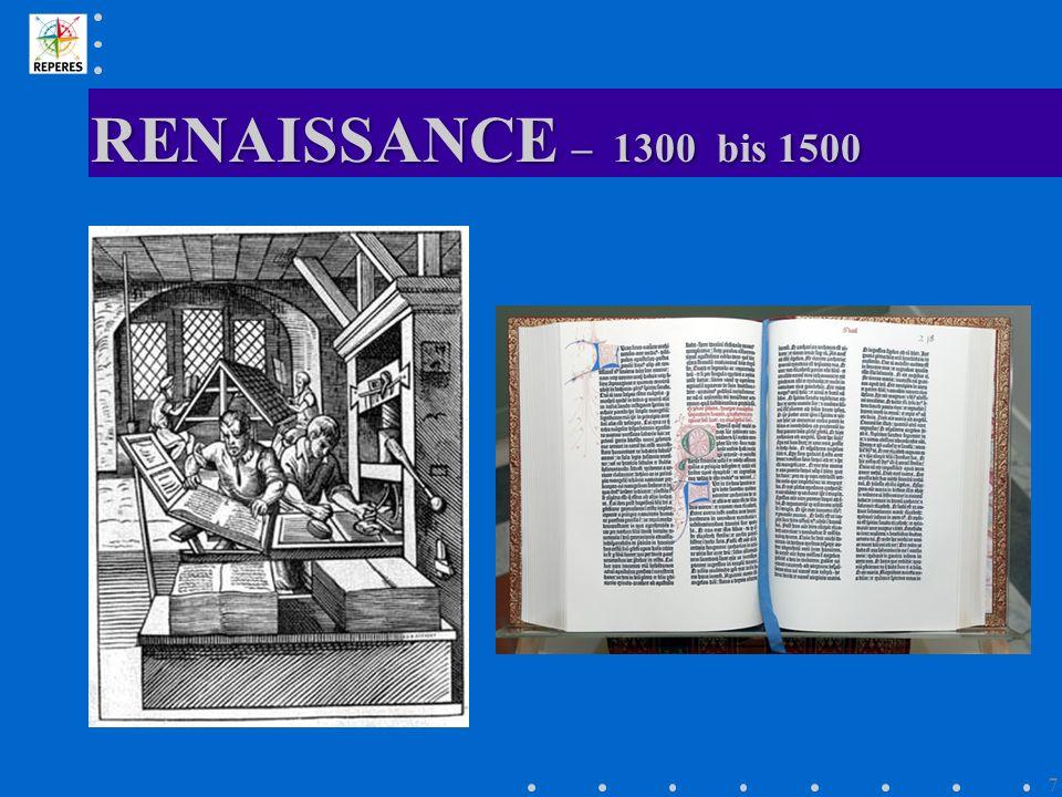 RENAISSANCE – 1300 bis 1500 7