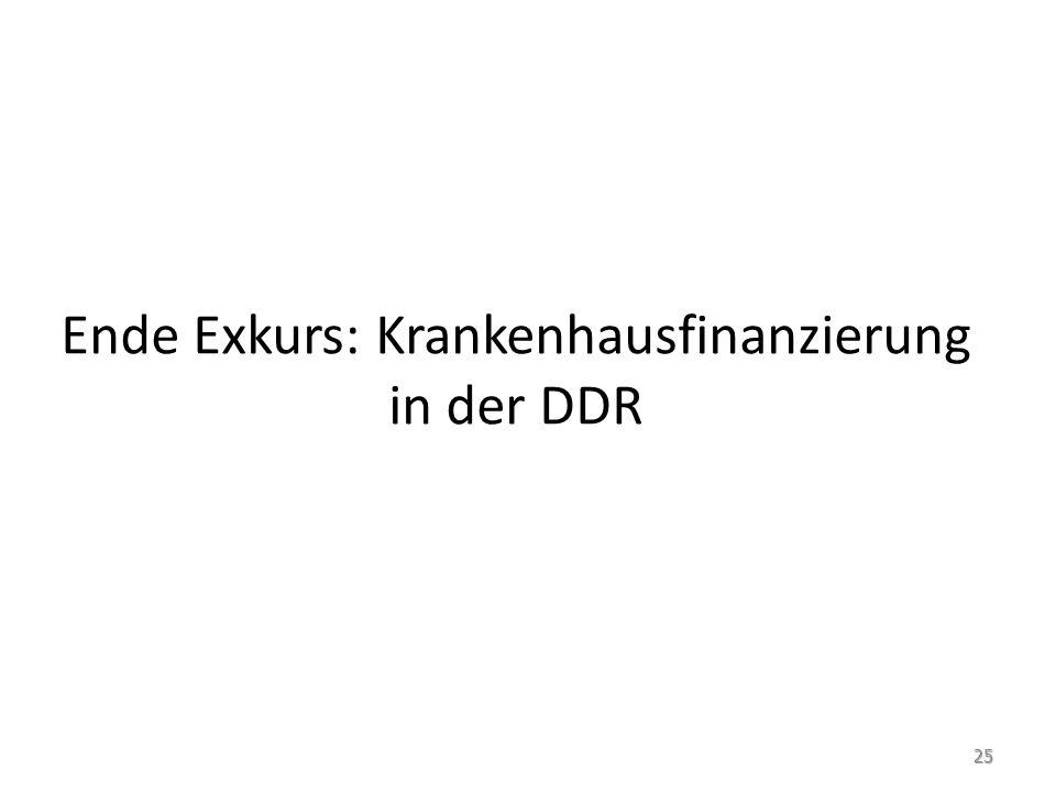 Ende Exkurs: Krankenhausfinanzierung in der DDR 25