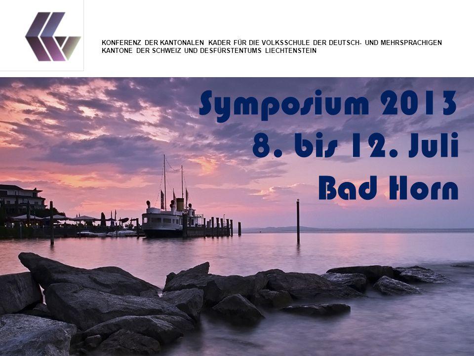 Symposium 2013 8. bis 12.