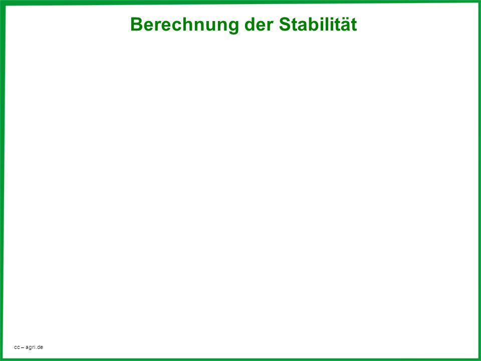 cc – agri.de Berechnung der Stabilität
