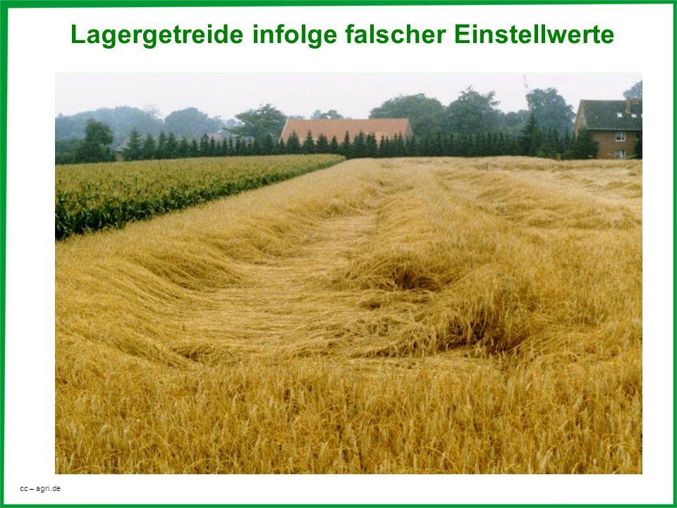 cc – agri.de Lagergetreide infolge falscher Einstellwerte