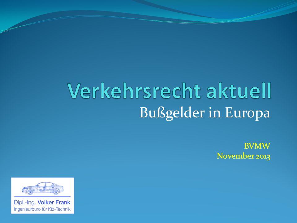 Bußgelder in Europa BVMW November 2013