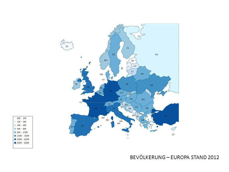 BEVÖLKERUNG – EUROPA STAND 2012