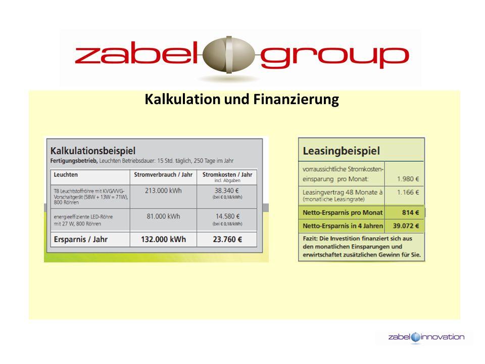 Kalkulation und Finanzierung