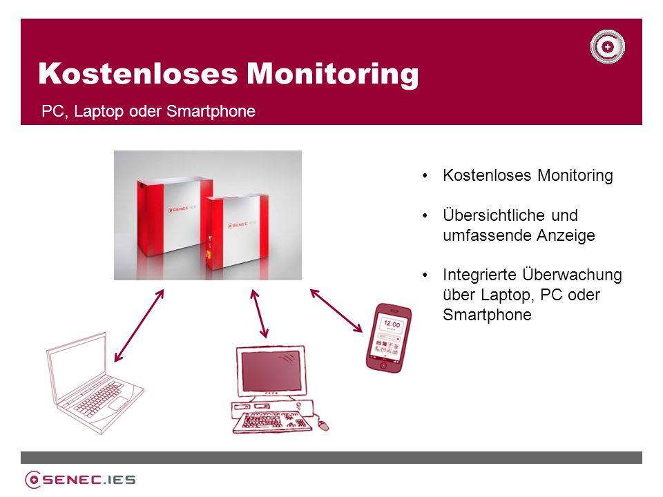 Kostenloses Monitoring PC, Laptop oder Smartphone Kostenloses Monitoring Übersichtliche und umfassende Anzeige Integrierte Überwachung über Laptop, PC oder Smartphone