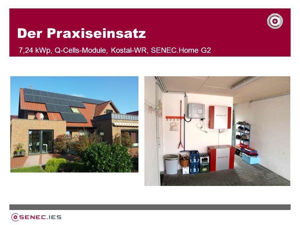 Der Praxiseinsatz 7,24 kWp, Q-Cells-Module, Kostal-WR, SENEC.Home G2
