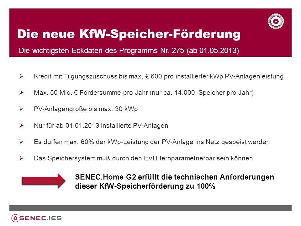 Die neue KfW-Speicher-Förderung Die wichtigsten Eckdaten des Programms Nr.