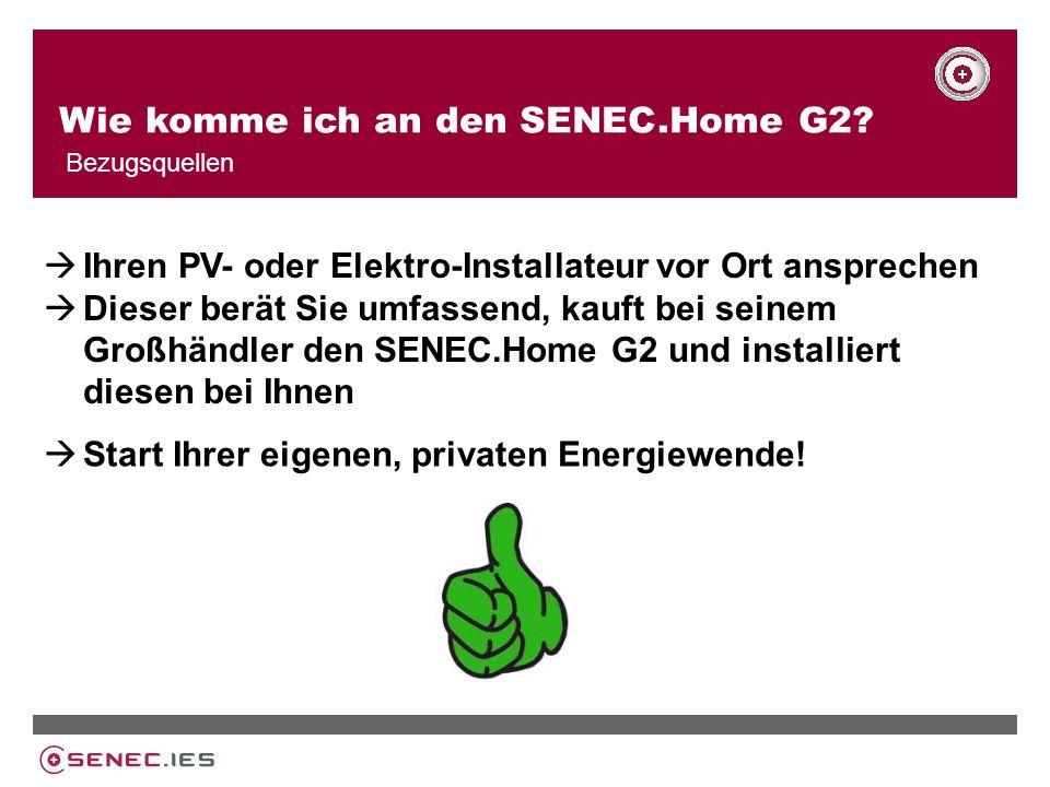 Wie komme ich an den SENEC.Home G2.