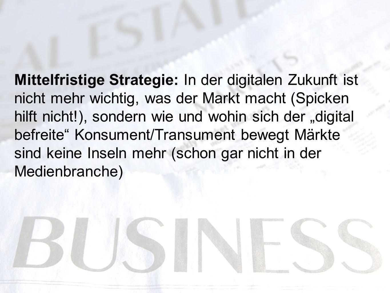Mittelfristige Strategie: In der digitalen Zukunft ist nicht mehr wichtig, was der Markt macht (Spicken hilft nicht!), sondern wie und wohin sich der