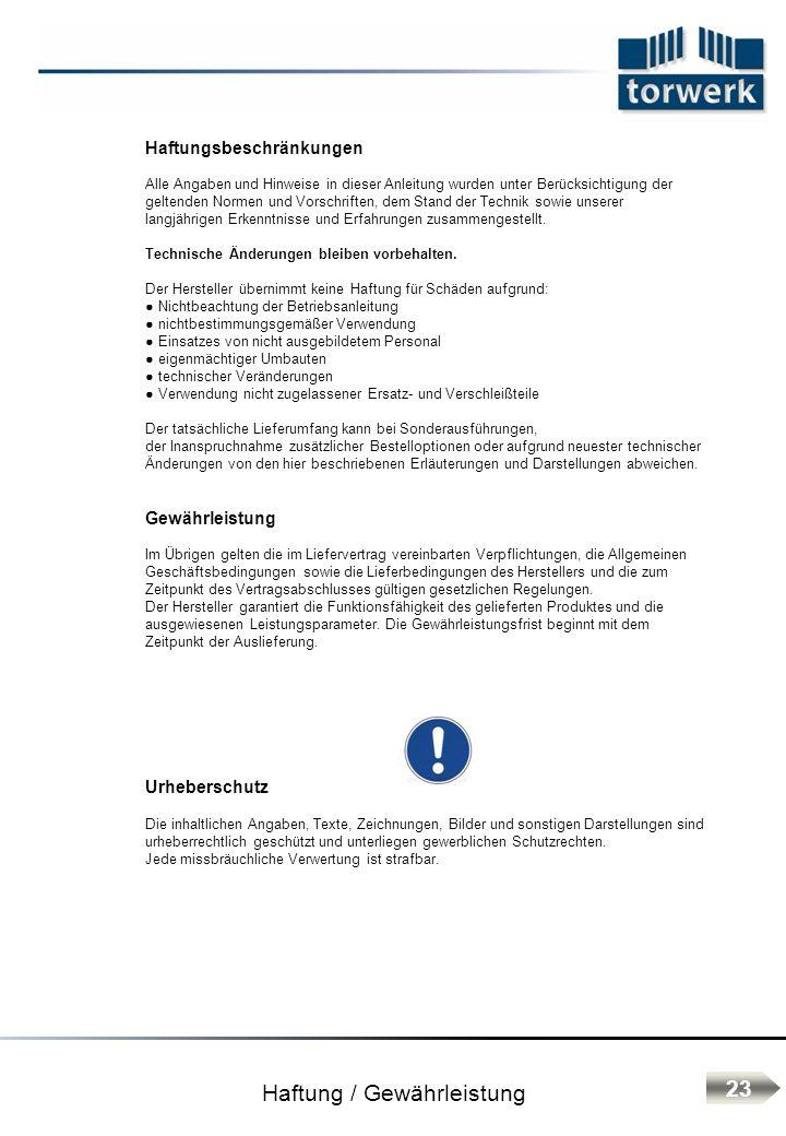 Haftung / Gewährleistung Haftungsbeschränkungen Alle Angaben und Hinweise in dieser Anleitung wurden unter Berücksichtigung der geltenden Normen und V