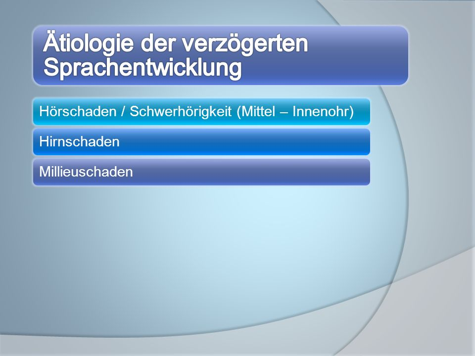 Hörschaden / Schwerhörigkeit (Mittel – Innenohr)HirnschadenMillieuschaden