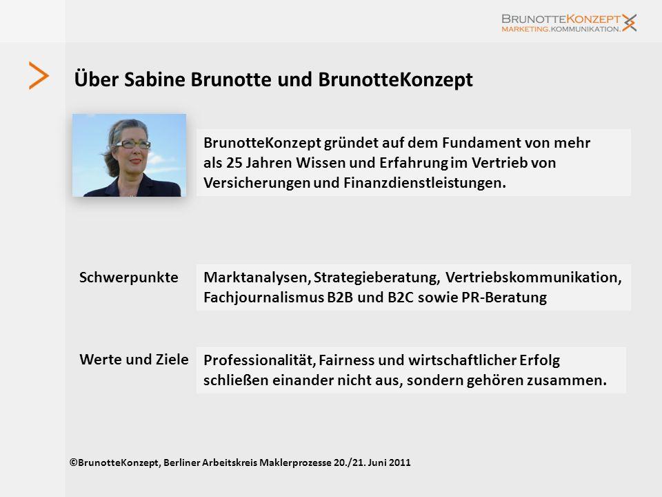Studie Maklerpools und Verbünde 2011 Erste Ergebnisse Ein aktueller Marktüberblick BrunotteKonzept.