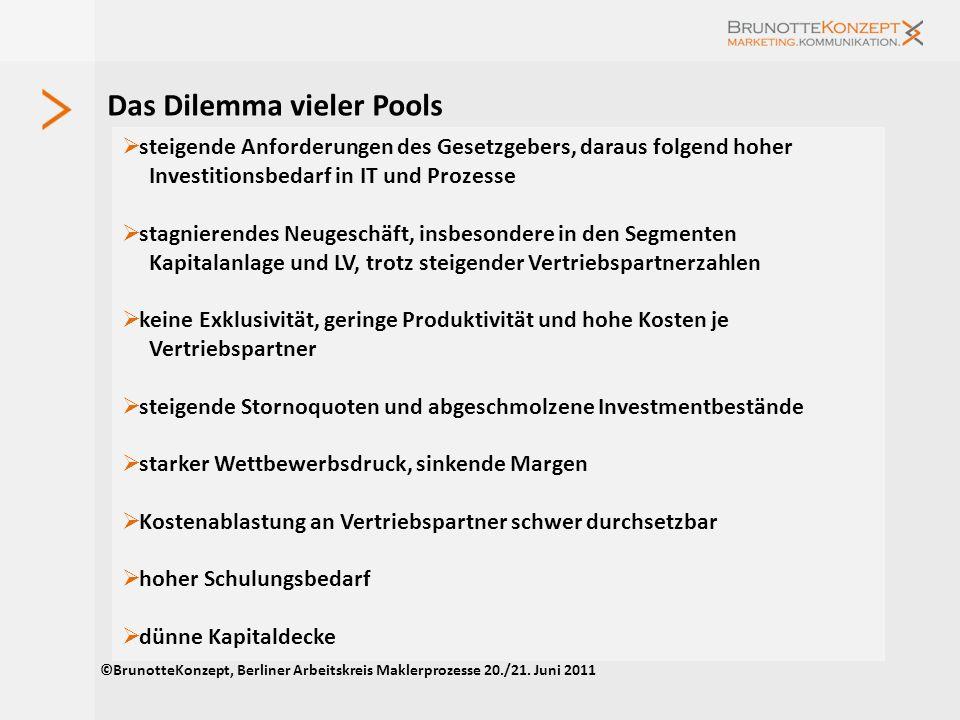 Ausrichtung – kein Pool wie der andere Fullservice- Anbieter : breite Produkt- und Servicepalette, viele Vertriebspartner, volumenorientiert, wachstum