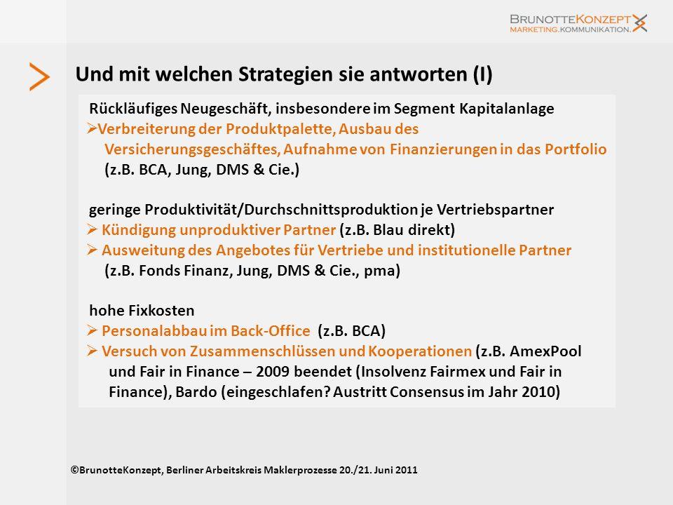Oder müssen Pools gerettet werden? ©BrunotteKonzept, Berliner Arbeitskreis Maklerprozesse 20./21. Juni 2011