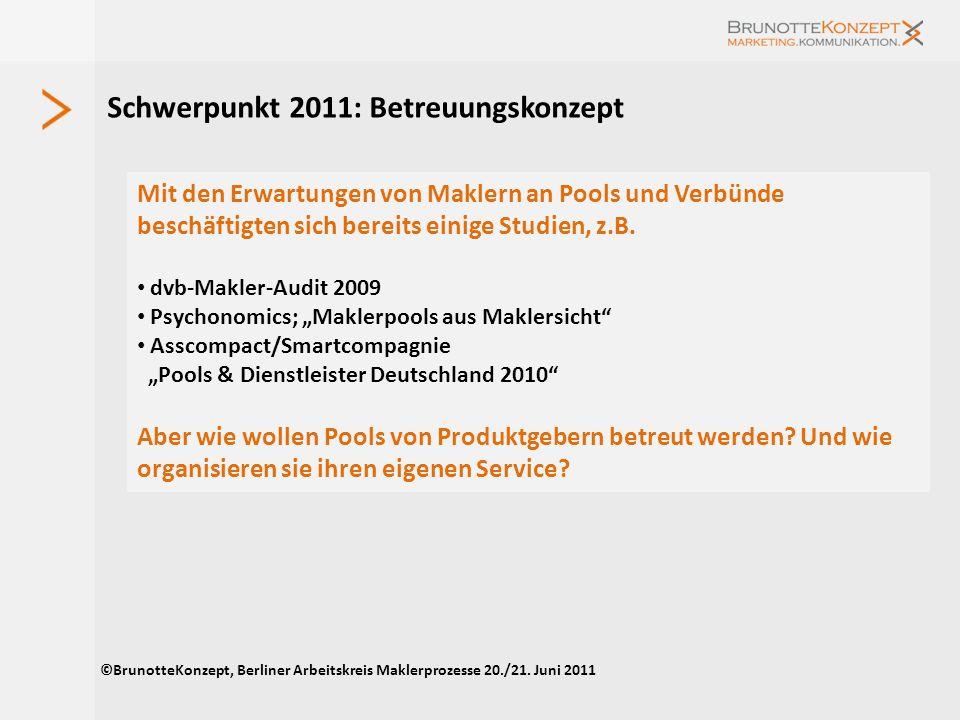 Forderungen an Produktgeber ©BrunotteKonzept, Berliner Arbeitskreis Maklerprozesse 20./21.